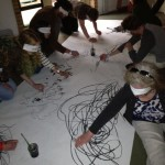 Blind Drawing Workshop at No Dark Places 2013